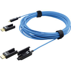 Kramer Plenum-Rated High-Speed Fiber Optic HDMI Cable with Removable Connectors (328')