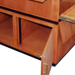 """AmpliVox Sound Systems Component Installation Rack Rails for SW3030 Solid Hardwood Lectern (19"""" Rack)"""