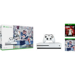 Microsoft Xbox One S Madden NFL 17 Bundle with NBA 2K17 Early Tip-Off Edition Kit