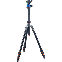 3 Legged Thing Travis Aluminum Travel Tripod with AirHed Neo Ball Head (Blue and Orange)