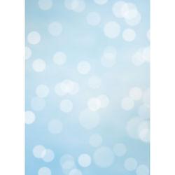 Westcott Subtle Bokeh Art Canvas Backdrop with Grommets (5 x 7', Blue)