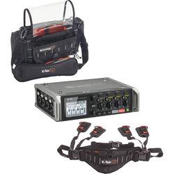 Zoom F4 Multitrack Field Recorder Kit with K-Tek Stingray Bag