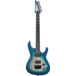Ibanez SIX6FDFM Iron Label S Series Electric Guitar (Blue Space Burst)