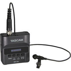 Tascam DR-10L Digital Audio Recorder with Lavalier Mic (Black)