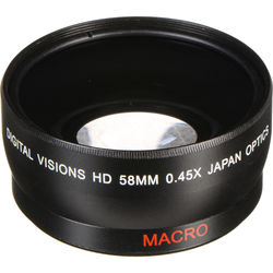 Bower 58mm 0.45x Pro HD Wide-Angle Conversion Lens