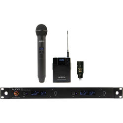 Audix AP42 Performance Series Dual-Channel Combo OM2 Handheld & ADX10 Lavalier Wireless System (554 to 586 MHz)