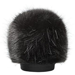 Bubblebee Industries Windkiller Long Fur Slip-On Wind Protector for 18 to 24mm Mics (Extra-Small, Black)