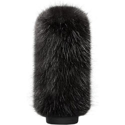 Bubblebee Industries Windkiller Long Fur Slip-On Wind Protector for 18 to 24mm Mics (Extra-Large, Black)