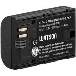 Watson LP-E6N Lithium-Ion Battery Pack (7.2V, 1900mAh)