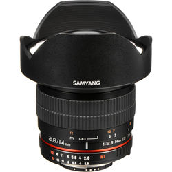 Samyang 14mm Ultra Wide-Angle f/2.8 IF ED UMC Lens For Nikon With Focus Confirm Chip