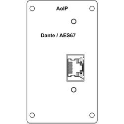 Wohler Dante Input Module with RJ-45 for AMP2-16V Audio/Video Processing Monitor