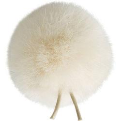 Bubblebee Industries Windbubble Miniature Imitation-Fur Windscreen (Lav Size 3, 40mm, Off-White)