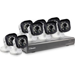 Swann 16-Channel 720p DVR with 500GB HDD and 8 720p Bullet Cameras Kit