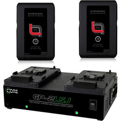 Core SWX HyperCore Slim RED & GP-2LSJ Two-Battery and Charger Kit