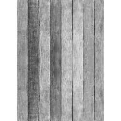Westcott Rustic Wood Art Canvas Backdrop with Grommets (5 x 7', Gray)