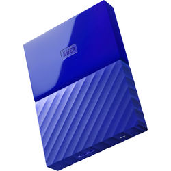 WD 1TB My Passport USB 3.0 Secure Portable Hard Drive (Blue)