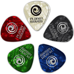 Planet Waves Classic Pearl Celluloid Guitar Pick Assortment 10-Pack (Extra Heavy)
