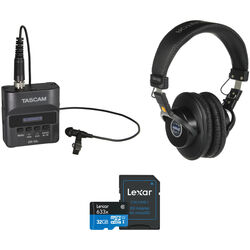 Tascam DR-10L Digital Audio Recorder Kit with Monitor Headphones