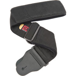 """Planet Waves Woven Padded Guitar Strap 3"""" Wide (Black)"""