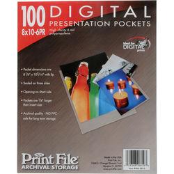 "Print File Polypropylene Presentation Pocket (8 x 10"", 25-Pack)"