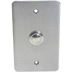 Atlas Sound Vandal-Resistant Intercom Push Switch on Single-Gang Steel Plate