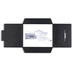 Pina Zangaro Open-Flap Folders (3-Pack, Black)