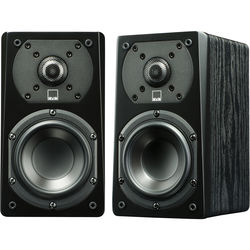 SVS Prime Satellite 2-Way Bookshelf Speakers (Premium Black Ash, Pair)