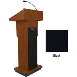 AmpliVox Sound Systems Executive Adjustable Column Sound Lectern (Black)