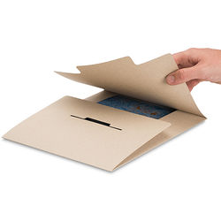 Pina Zangaro Open-Flap Folders (3-Pack, Kraft Brown)