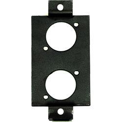 Whirlwind Edison Duplex Insert Wall Mounting Plates with 2 Neutrik D Holes (Black)