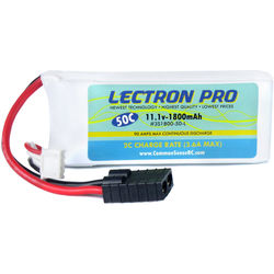COMMON SENSE RC Lectron Pro 11.1V 1800mAh 50C with Traxxas Connector for Traxxas 1/16-Scale E-Revo and Slash