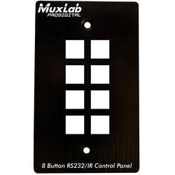 MuxLab 8-Button RS232/IR Control Panel