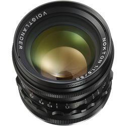 Voigtlander Nokton 50mm f/1.5 Aspherical Lens (Black)