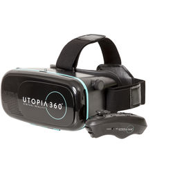 Emerge Technologies Utopia 360 Virtual Reality Smartphone Headset with Bluetooth Remote