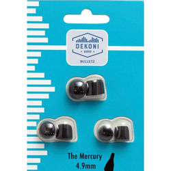 Dekoni Audio The Mercury Memory Foam Earphone Tips 4.9mm, (Black, 3-Pack)
