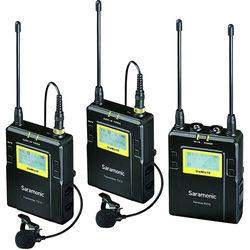 Saramonic UwMic10 RX10+TX10+TX10 UHF Wireless Microphone System