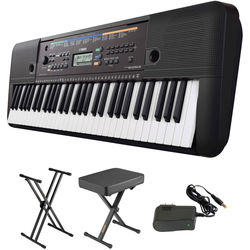 Yamaha PSR-E253 - Portable Keyboard Kit with Stand, Bench, and Power Supply