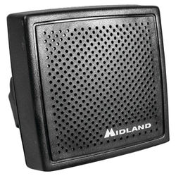 """Midland High-Performance 20W Mobile Speaker with Swivel Base & 70"""" Cable for CB Radio"""