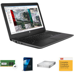 "B&H Photo Portable Workstation with HP ZBook 15.6"", Vegas Pro 14 and 1TB External Storage"