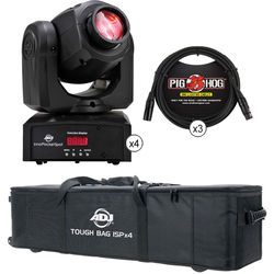 American DJ 4 x Inno Pocket Spot Quad Kit with Bag and Cables