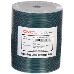 CMC Pro CD-R 700MB HiGLOSS Inkjet Printable Discs (100-Pack)