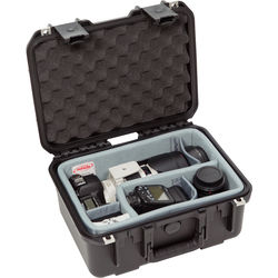 SKB iSeries 1309-6 Case w/Think Tank Designed Photo Dividers &Lid Foam (Black)