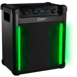 ION Audio Block Rocker Max - 100W Wireless Rechargeable Speaker with Lighting Effects