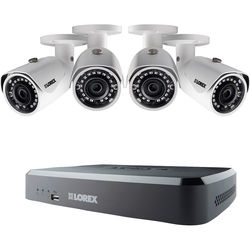 Lorex by FLIR 8-Channel 1080p NVR with 2TB HDD and 4 3MP Outdoor Night Vision Bullet Cameras