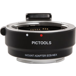 Pictools Canon EF/EF-S Lens to Sony E-Mount Camera AF Lens Adapter