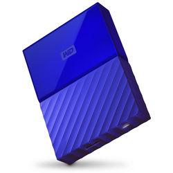 WD 4TB My Passport USB 3.0 Secure Portable Hard Drive (Blue)