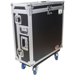 ProX Mixer Case with Doghouse and Wheels for Allen and Heath QU-32 Digital 32 Channel Mixer