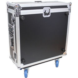 ProX Flight Road Case with Doghouse and Wheels for Allen and Heath QU-24 Digital 24 Channel Mixer