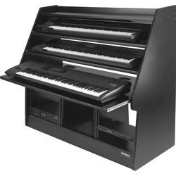 Omnirax Synthrax 3-Tier Sliding Synthesizer Shelf/Rack Cabinet for Up to 3 88-Note Keyboards