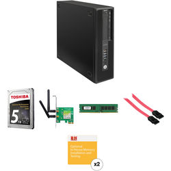 HP Z240 Series Small Form Factor Turnkey Workstation with 16GB RAM, 5TB HDD, and Wi-Fi Adapter
